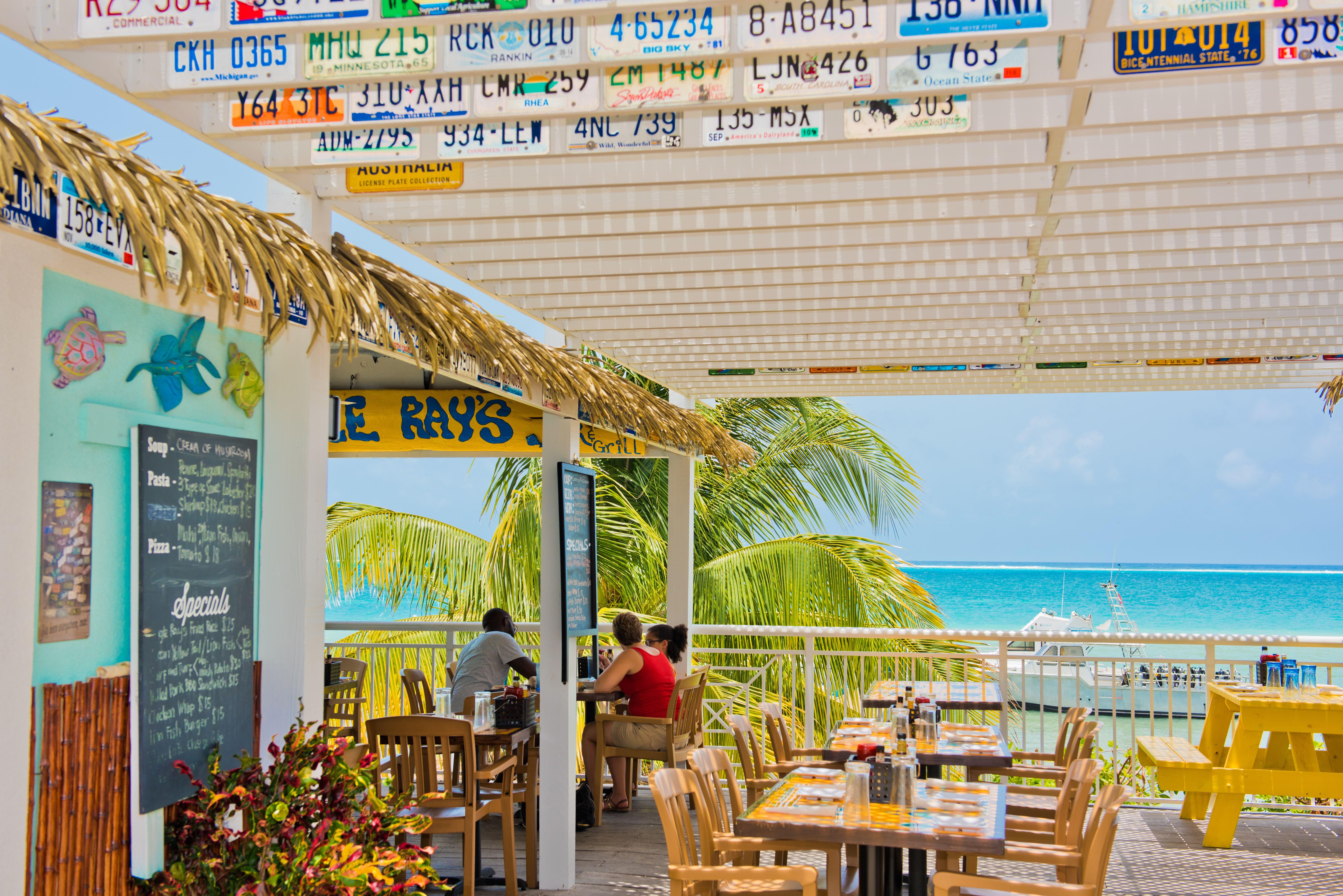 Eagle Rays Cayman Outside Deck