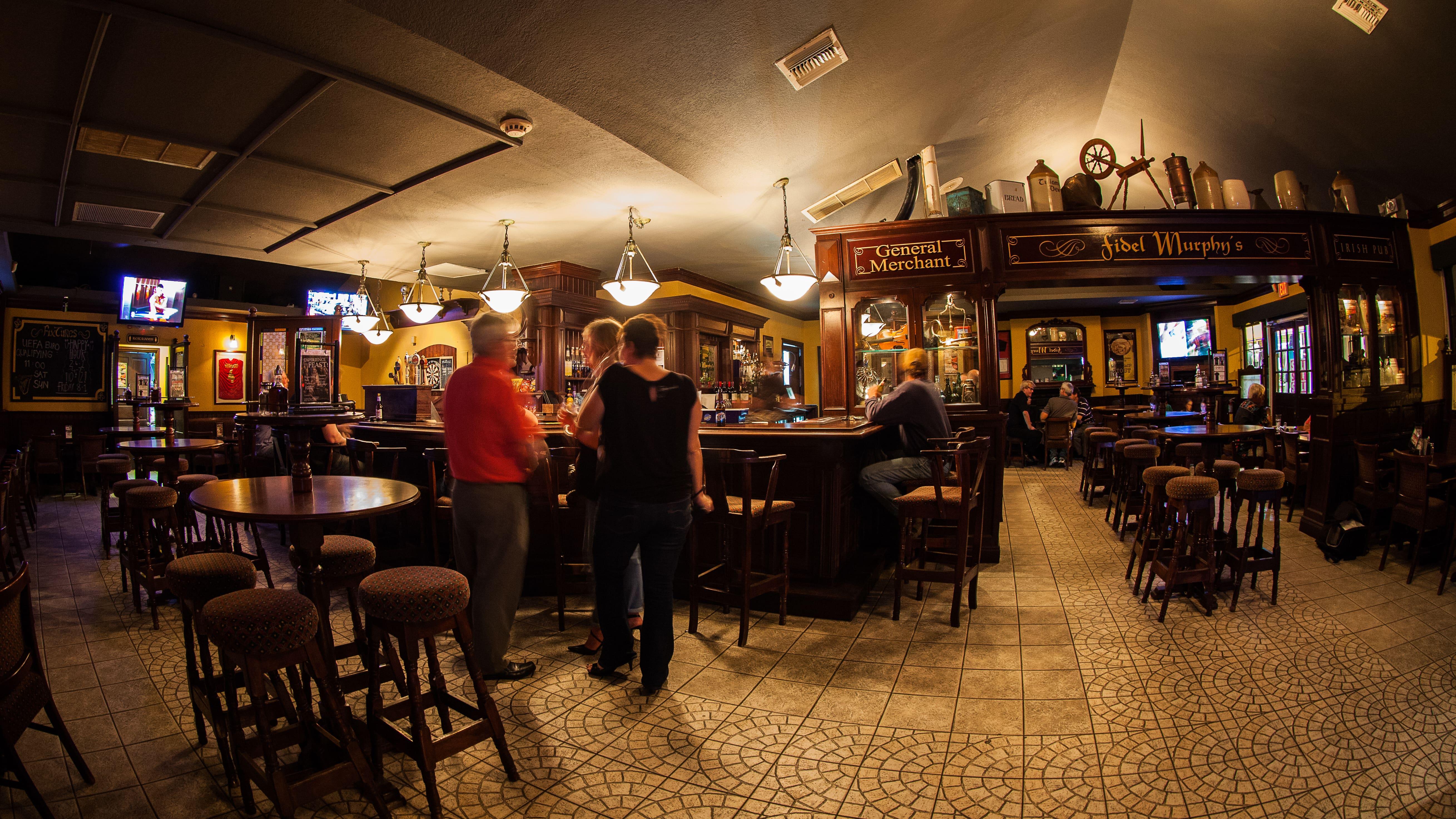 Inside Fidels Cayman Bar