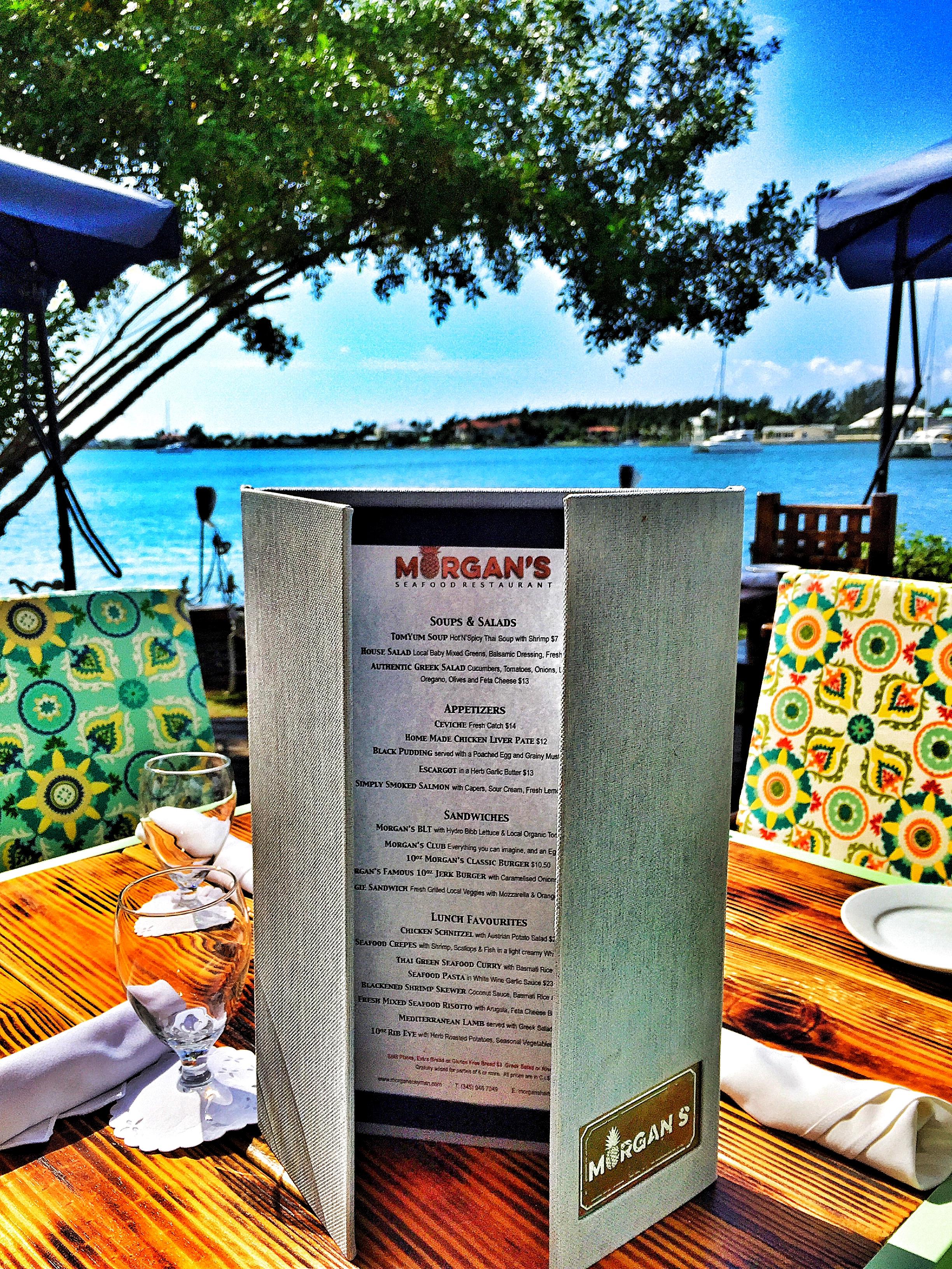 Morgans Cayman Food and Drink Menu