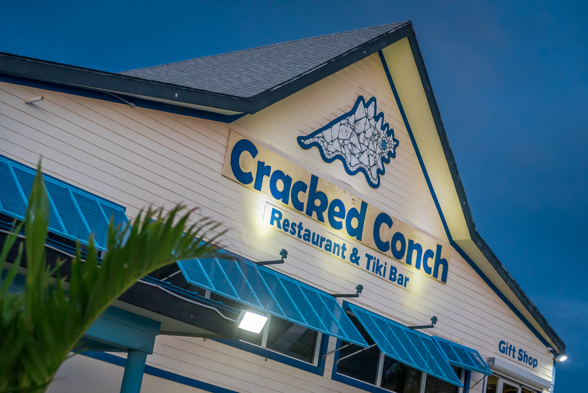 Outside of Cracked Conch Cayman