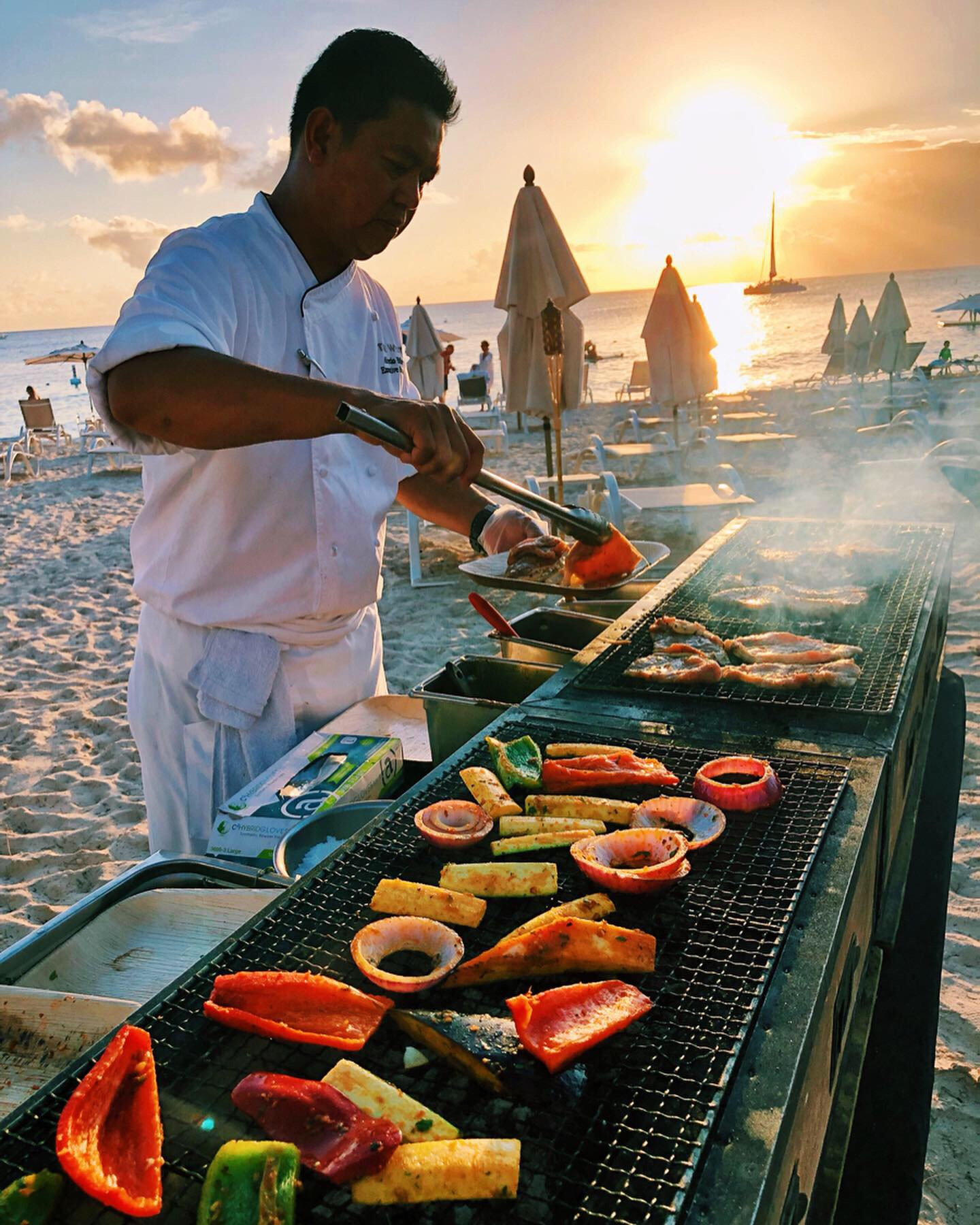 Tortuga Cayman Chef cooking