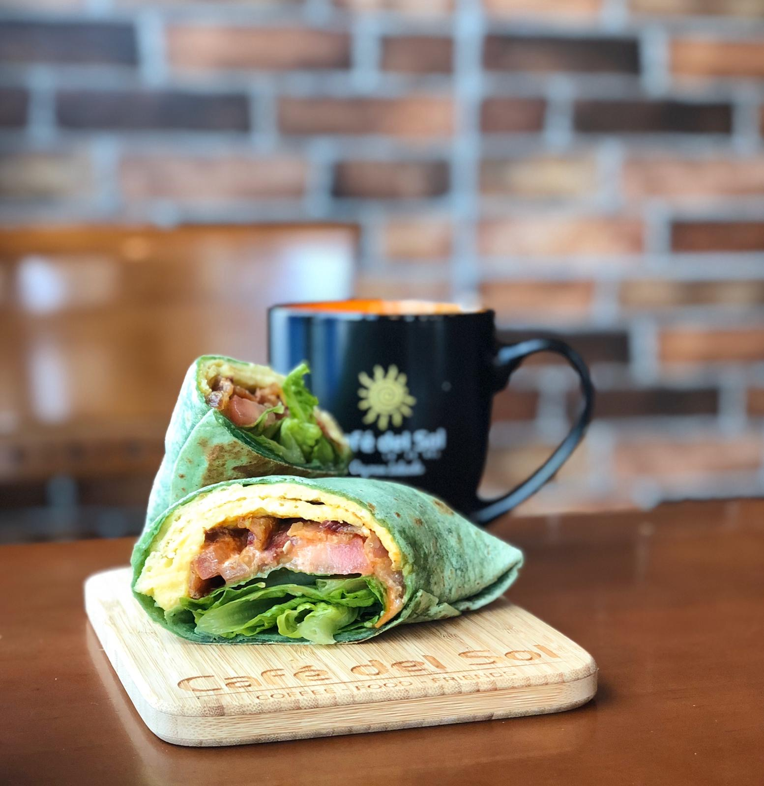 Cafe Del Sol Wrap and Coffee
