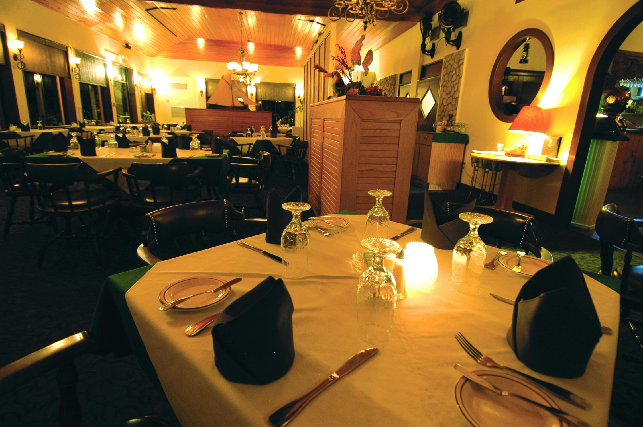 Sunset House Dinner Table Inside