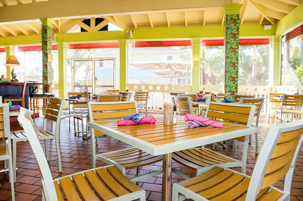 Inside of Sunshine Grill Cayman